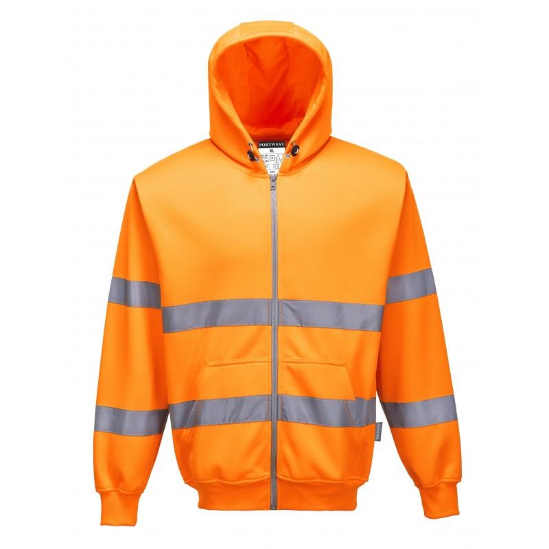 Sweatshirt zip à capuche HiVis - Portwest