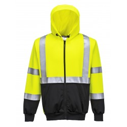 Sweat Hi-Vis bicolore zippé capuche - Portwest