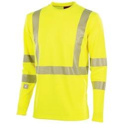 T-shirt manches longues haute visibilté homme Signal - LAFONT