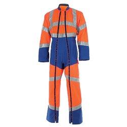 Combinaison de travail haute visibilité 2 zip FLUO SAFE - CEPOVETT SAFEFTY