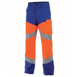 Pantalon haute visibilité avec genouillères FLUO SAFE - CEPOVETT SAFEFTY