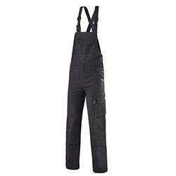Cotte de travail à bretelles avec protection genoux KROSS LINE - CEPOVETT SAFEFTY