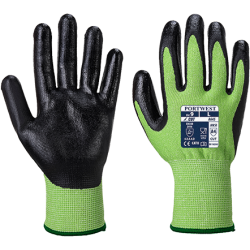Gants anti-coupure Green Cut 5 mousse Nitrile - Portwest